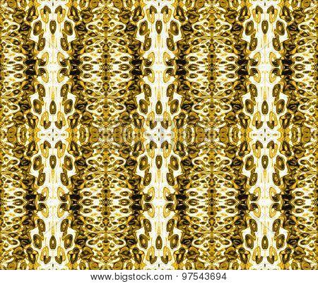 Seamless ellipses pattern ocher brown