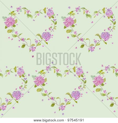 Vintage Floral Lilac Background - seamless pattern for design, print, scrapbook - in vector