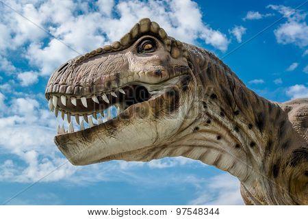 Realistic Model Of A Tyrannosaurus