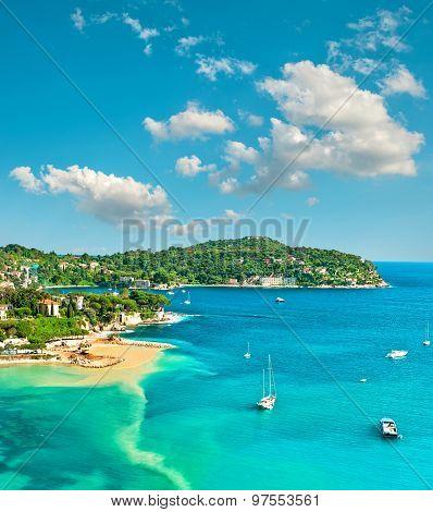 Azure Mediterranean Sea And Blue Sky. Summer Holidays