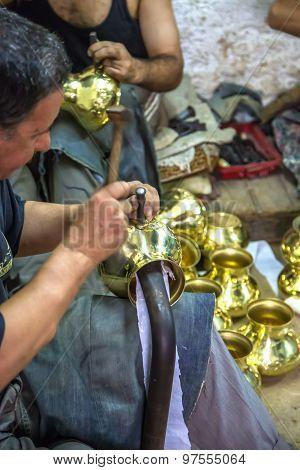 Handcraftsman In Fes, Morocco