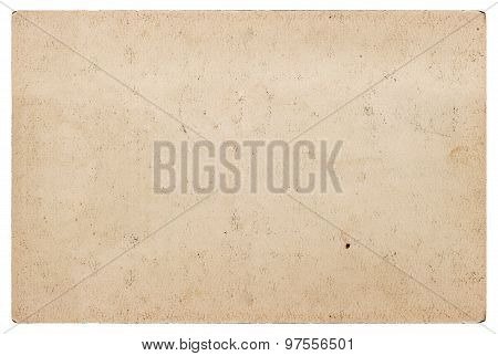 Grungy Craft Paper Texture. Used Cardboard Isolated On White Background