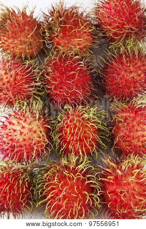 close up of the rambutan
