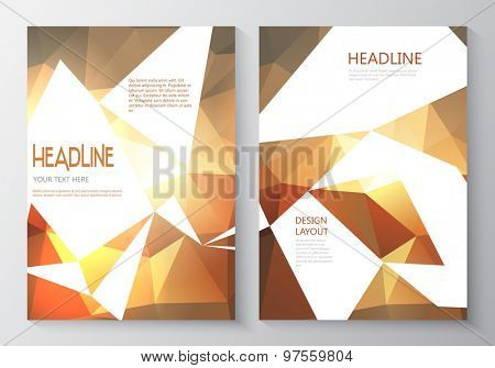 Design template for double sided flyer