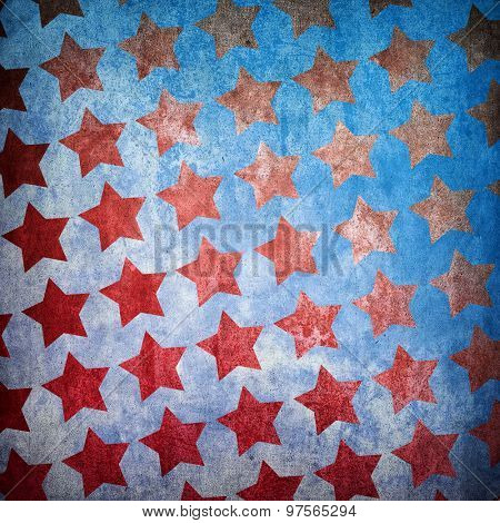 vintage background with star pattern
