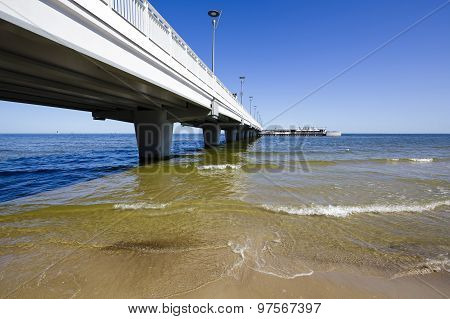 Pier Made Of Concrete In Kolobrzeg In Poland