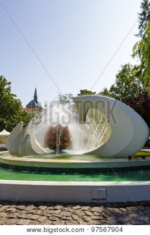 The Fountain In Kolobrzeg In Poland