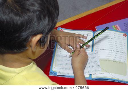 Kid Doing Homework