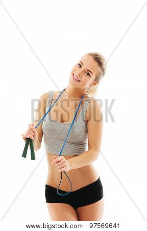 Fitness healthy women exercise in studio isolated
