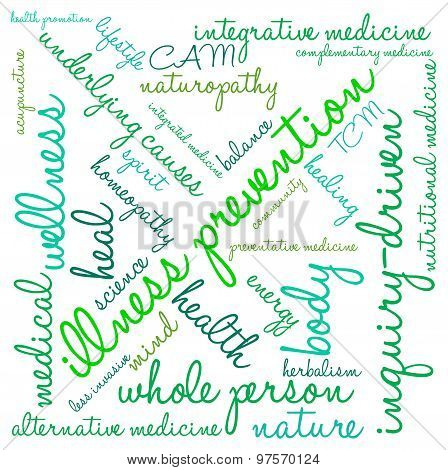Illness Prevention Word Cloud