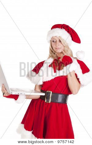 Santas Helper Laptop Think