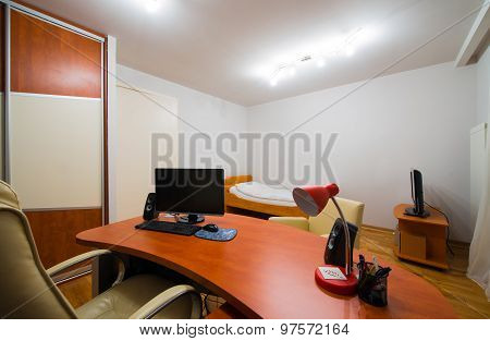 Retro Office Room Interior