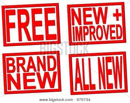 Sellos nuevos y gratis