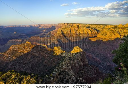 colorful Sunset at Grand Canyon seen from Mathers Point South Rim