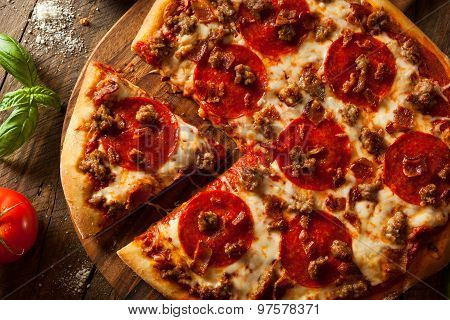 Homemade Meat Loves Pizza