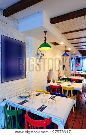 Stylish Greek Restaurant Interior