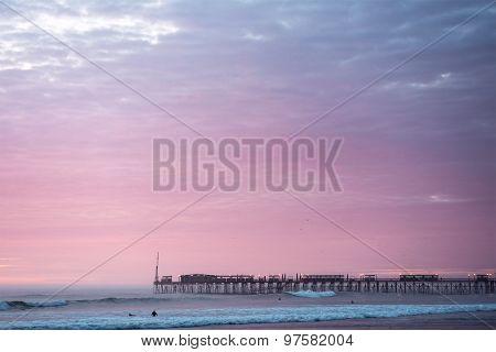 Famous Pier At Pimentel. Peru
