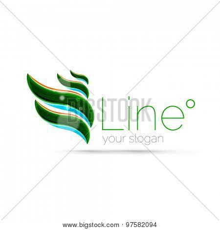 Abstract wave line logo.  illustration