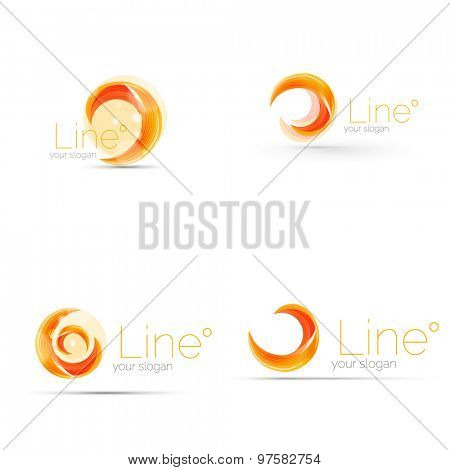 Swirl orange company logo design. Universal for all ideas and concepts. Business creative icon