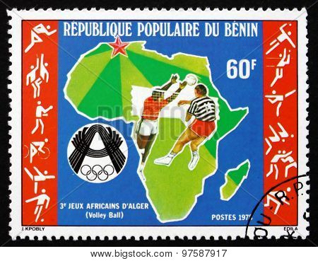 Postage Stamp Benin 1978 Volleyball Players