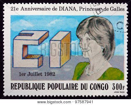 Postage Stamp Belgian Congo 1982 Princess Diana