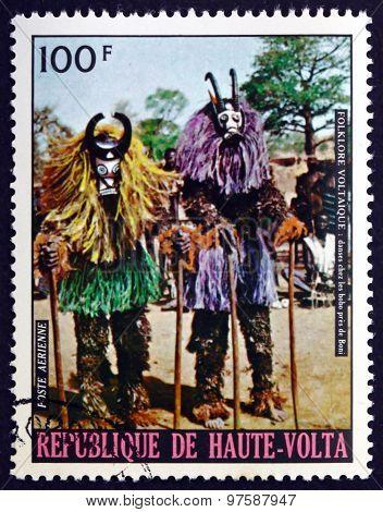 Postage Stamp Burkina Faso 1973 Bobo Masked Dancers