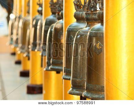 Bells In Wat Phrathat Doi Suthep, Thailand