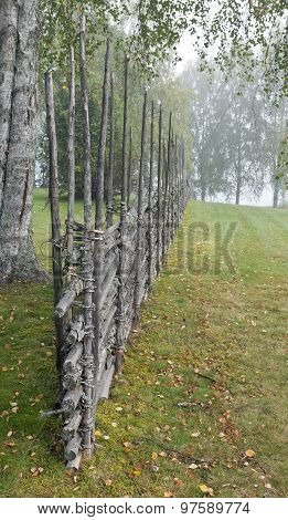 Traditional wooden fence.
