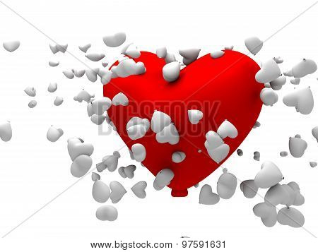 3D Big Red Heart Shapped Balloon