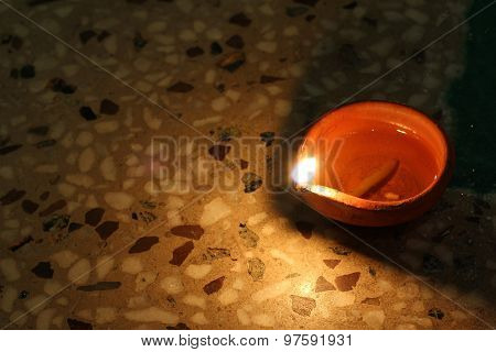 Traditional Diya Of Illumination, Diwali Festival Concept