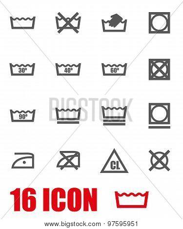 Vector Grey Washing Signs  Set