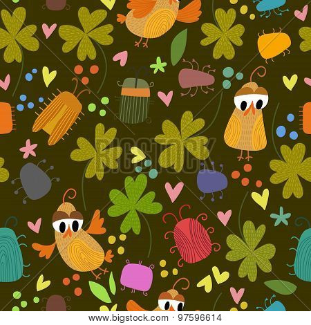 St. Patrick's Day Background In Green Colors. Vector Illustration. Design In A Colorful Style.