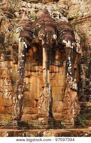 Elephant Terrace, Ankgor Thom, Cambodia