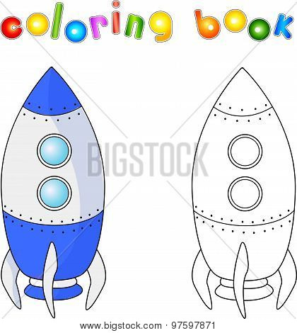 Spacecraft Or Aerospace Vehicle. Coloring Book For Children About Space