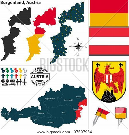 Map Of Burgenland, Austria