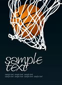 stock photo of spherical  - Basketball Hoop Basket Set 2 Vector Drawing - JPG