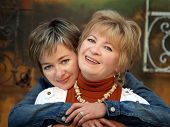 image of mother daughter  - mother and daughter having a good time together - JPG