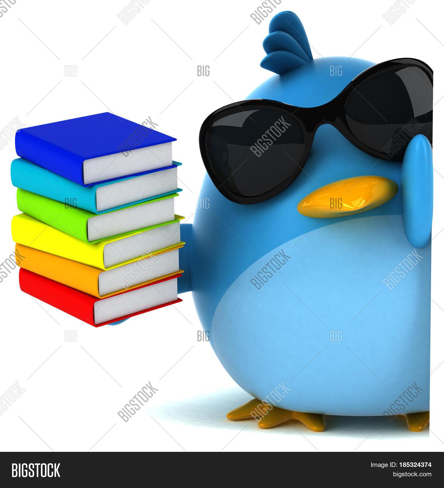 Stock Photo Blue Bird 3d Illustration