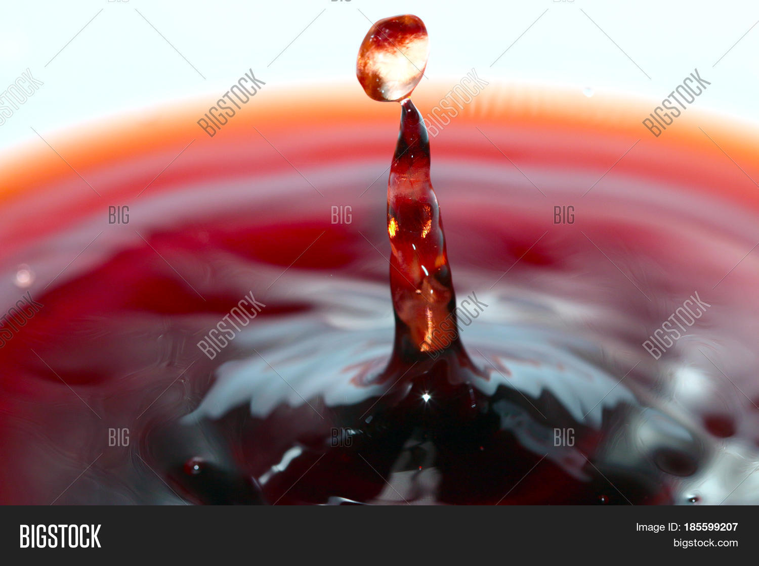Heavy Red Wine : Heavy drops red wine patterns when image photo bigstock
