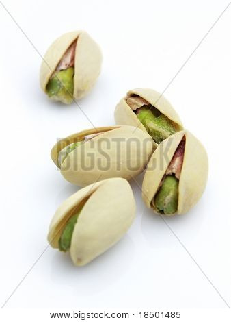 Pistachio on a white background