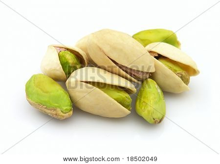 Heap of dried pistachio