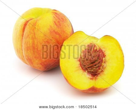 Ripe peach. Use it for a health and nutrition concept.