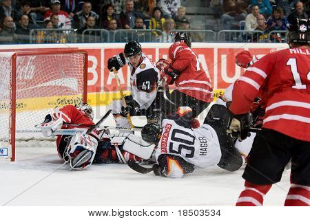 MANNHEIM, Germany - November 09: Icehockey Germany Cup - Germany vs. Canada (Result 0:3) November 09, 2008 in Mannheim, Germany.
