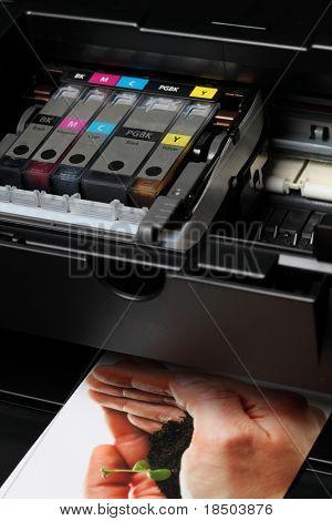 Computadora impresora (tinta) - la impresión es de mi cartera