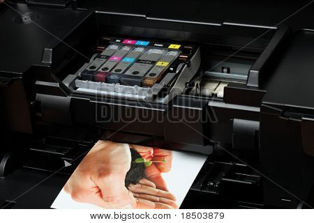 Computer printer (ink) - the printout is from my portfolio