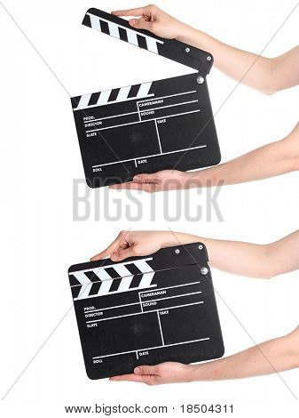 and action - a isolated film slate