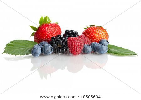 Mix of fresh healthy berries
