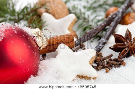 Christmas cookies in a winter wonderland