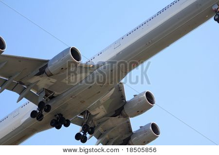 Jet Undercarriage on Landing Approach