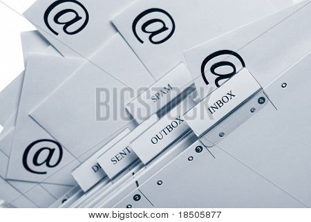 Símbolo para la comunicación por correo electrónico